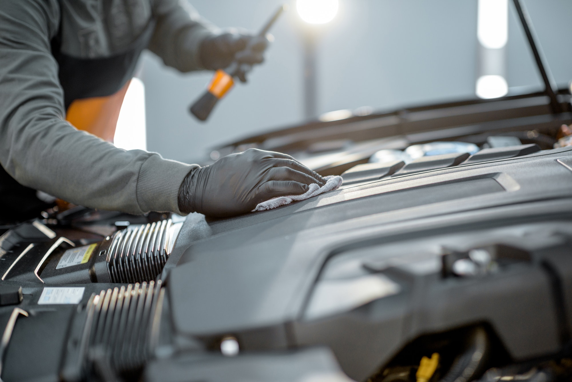 Professional car engine cleaning
