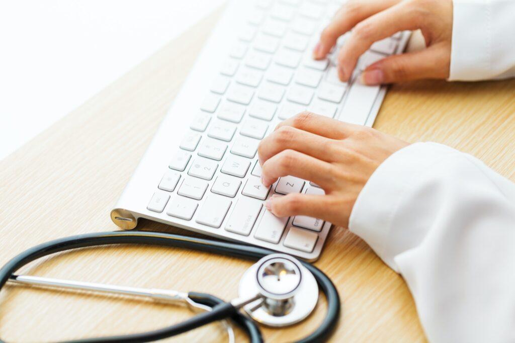 Working desk of doctor